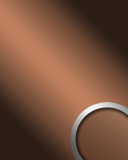 Wandpaneel Spiegel Dekor Glanz-Optik WallFace 17273 DECO COPPER Paneel Wandverkleidung selbstklebend braun 2, 60 qm