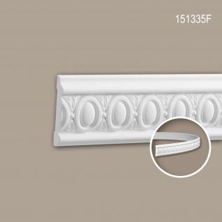 Wand- und Friesleiste PROFHOME 151335F Stuckleiste Flexible Leiste Zierleiste Neo-Klassizismus-Stil weiß 2 m