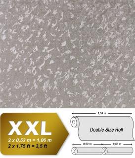 Uni Tapete EDEM 9011-34 Vliestapete geprägt in Spachteloptik glänzend silber grau 10, 65 m2