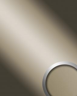 Wandverkleidung Wandpaneel Spiegel Dekor Glanz-Optik WallFace 12430 DECO CHAMPAGNE selbstklebend champagner | 2, 60 qm