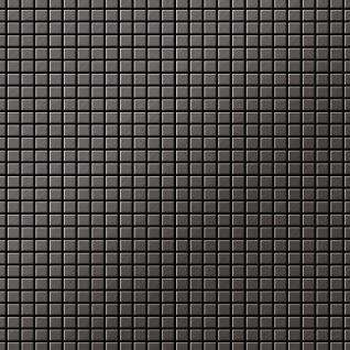Mosaik Fliese massiv Metall Titan gebürstet in dunkelgrau 1, 6mm stark ALLOY Glomesh-Ti-SB 1, 07 m2