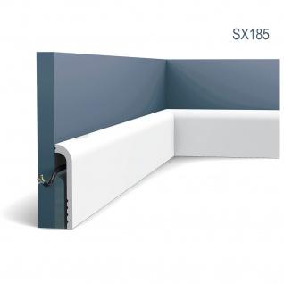 Sockelleiste Orac Decor SX185 LUXXUS CASCADE Zierleiste Stuckleiste Modernes Design weiß 2m - Vorschau 1