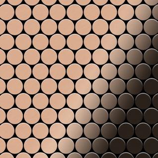 Mosaik Fliese massiv Metall Kupfer gewalzt in kupfer 1, 6mm stark ALLOY Dollar-CM 0, 88 m2