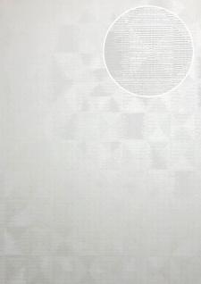 Ton-in-Ton Tapete ATLAS XPL-592-1 Vliestapete strukturiert mit geometrischen Formen schimmernd weiß perl-weiß schnee-weiß 5, 33 m2