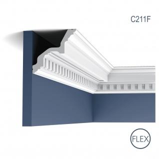 Zierleiste Orac Decor C211F LUXXUS flexible Eckleiste Stuckleiste Profilleiste Stuckdekor Decken Wand Leiste | 2 Meter