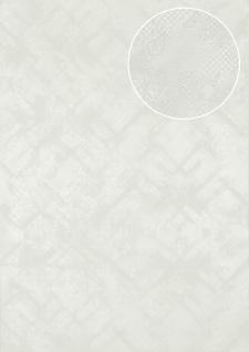 Grafik Tapete Atlas SIG-580-0 Vliestapete strukturiert mit abstraktem Muster schimmernd weiß rein-weiß perl-weiß 5, 33 m2