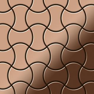 Mosaik Fliese massiv Metall Kupfer gewalzt in kupfer 1, 6mm stark ALLOY Infinit-CM Designed by Karim Rashid 0, 91 m2