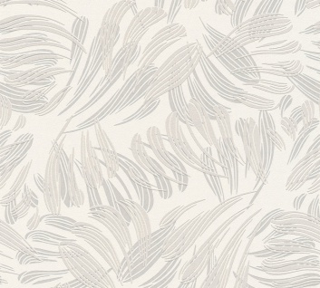 Grafik Tapete Profhome 367033-GU Vliestapete leicht strukturiert mit grafischem Muster matt grau beige weiß 5, 33 m2