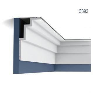 Eckleiste Orac Decor C392 MODERN STEPS Zierleiste Modernes Design weiß 2m