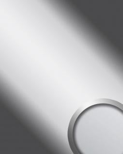 Wandverkleidung Platte selbstklebend silber WallFace 10324 DECO SILVER Wandpaneel Spiegel Design Glanz-Optik | 2, 60 qm