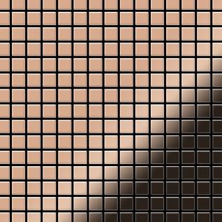 Mosaik Fliese massiv Metall Kupfer gewalzt in kupfer 1, 6mm stark ALLOY Mosaic-CM 1, 04 m2