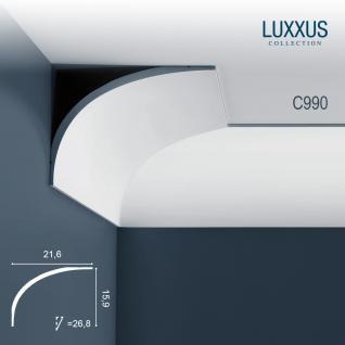 Stuck Zierleiste Orac Decor C990 LUXXUS Eckleiste Profilleiste profil Gesims Deckengesims | 2 Meter