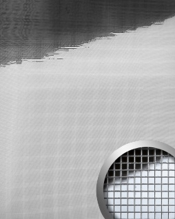 Wandpaneel Wandverkleidung WallFace 10650 M-Style Design Platte EyeCatch Metall Mosaik Dekor selbstklebend spiegel glanz silber 0, 96 qm