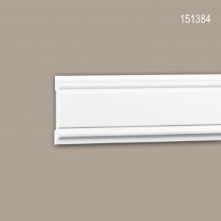 Wand- und Friesleiste PROFHOME 151384 Stuckleiste Zierleiste Friesleiste Neo-Klassizismus-Stil weiß 2 m