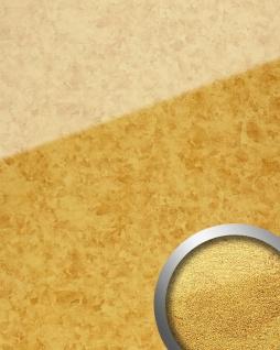 Wandpaneel Glas-Optik Gold-Muster WallFace 17954 ANTIGUA Wandverkleidung selbstklebend gold 2, 60 qm