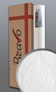 Barock Tapete EDEM 83003BR60 Vliestapete zum Überstreichen strukturiert mit grafischem Muster matt weiß 1 Karton 4 Rollen 106 m2