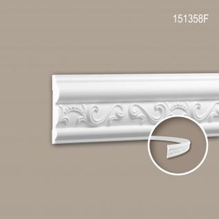 Wand- und Friesleiste PROFHOME 151358F Stuckleiste Flexible Leiste Zierleiste Neo-Empire-Stil weiß 2 m