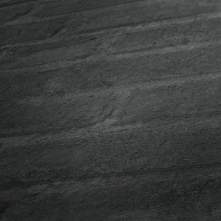 Stein Kacheln Tapete Profhome 377475-GU Vliestapete glatt in Steinoptik matt grau schwarz anthrazit 5, 33 m2 - Vorschau 3