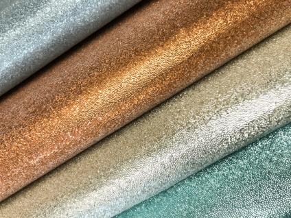 Luxus Glasperlen Wandverkleidung WallFace CBS13-4 CRYSTAL Uni Vliestapete handgearbeitet mit echten Glasperlen glänzend gold-braun 9, 80 m2 Rolle - Vorschau 3