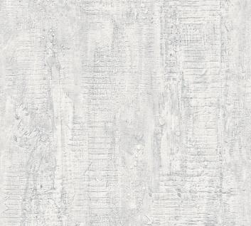 Stein Kacheln Tapete Profhome 944263-GU Vliestapete leicht strukturiert in Steinoptik matt weiß 5, 33 m2