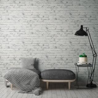 Stein Kacheln Tapete Profhome 907837-GU Vliestapete glatt in Steinoptik matt grau beige 5, 33 m2 - Vorschau 5