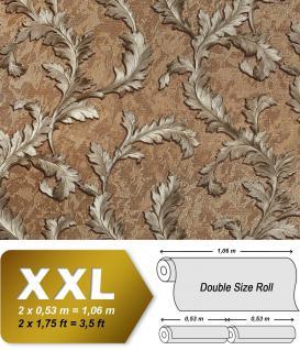 Blumen Tapete EDEM 9010-35 Vliestapete geprägt im Barock-Stil glänzend braun bronze silber 10, 65 m2