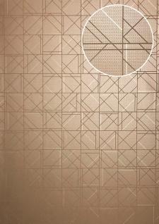 Grafik Tapete ATLAS XPL-591-9 Vliestapete strukturiert mit geometrischen Formen glänzend beige beige-grau grau-beige beige-braun 5, 33 m2