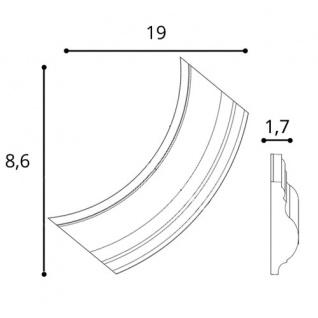 Wandleiste Stuck Orac Decor P8030C LUXXUS Eckelement Zierleiste für Friesleiste Rahmen Spiegel Profil Wand Dekor Element - Vorschau 2