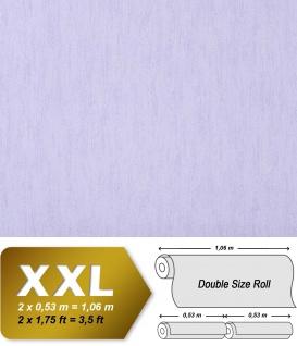 Uni Vliestapete EDEM 908-09 Tapete in XXL geprägte Struktur Textiloptik pastell hell-violett 10, 65 qm