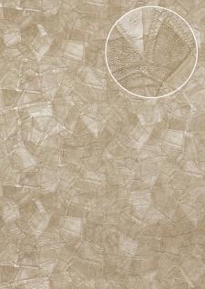 Präge Tapete Atlas STI-5102-2 Vliestapete geprägt in Lederoptik schimmernd beige perl-beige grau-beige seiden-grau 7, 035 m2 - Vorschau 1
