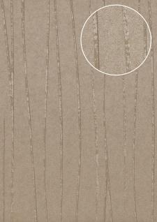 Edle Streifen Tapete Atlas COL-568-0 Vliestapete glatt Design schimmernd grau stein-grau silber 5, 33 m2 - Vorschau 1
