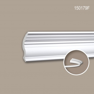 Eckleiste PROFHOME 150179F Zierleiste Flexible Leiste Stuckleiste Neo-Klassizismus-Stil weiß 2 m