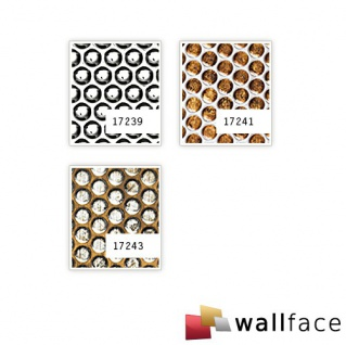 Wandplatte 3D Runddekor geprägt Paneel selbstklebend WallFace 17241 RACE Wandpaneel Design kupfer-braun silber 2, 60 qm - Vorschau 3