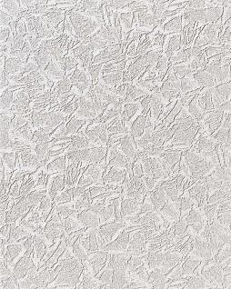 Uni Tapete EDEM 238-50 Dekorative Struktur Schaum-Tapete metallic effect weiß dezente silber glitter 7, 95 qm - 15 meter