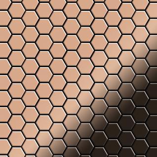 Mosaik Fliese massiv Metall Kupfer gewalzt in kupfer 1, 6mm stark ALLOY Honey-CM 0, 92 m2