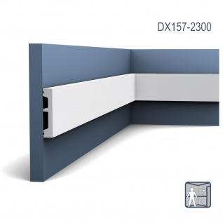 Sockelleiste mit Kabelkanal Orac Decor DX157-2300 AXXENT Zierleiste Wandprofil Kabel Boden Leiste | 2, 30 Meter