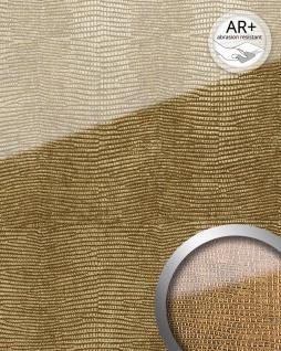 Wandpaneel Glas-Optik WallFace 16982 LEGUAN Luxus Dekor Wandverkleidung abriebfest selbstklebend gold braun | 2, 60 qm