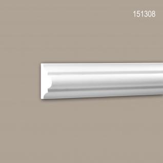Wand- und Friesleiste PROFHOME 151308 Stuckleiste Zierleiste Wandleiste Neo-Klassizismus-Stil weiß 2 m