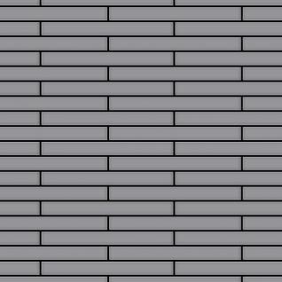 Mosaik Fliese massiv Metall Edelstahl matt in grau 1, 6mm stark ALLOY Deedee-S-S-MA 0, 78 m2
