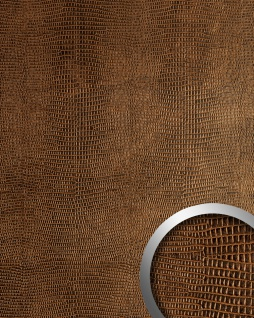 Wandpaneel Leder WallFace 12894 LEGUAN Blickfang Dekor selbstklebende Tapete Wandverkleidung kupfer-braun 2, 60 qm