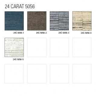 Streifen Tapete Atlas 24C-5056-1 Vliestapete glatt mit grafischem Muster und Metallic Effekt blau blau-grau granit-grau silber 7, 035 m2 - Vorschau 5