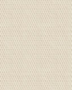 Ton-in-Ton Tapete Profhome DE120031-DI heißgeprägte Vliestapete geprägt mit geometrischen Formen glänzend elfenbein 5, 33 m2