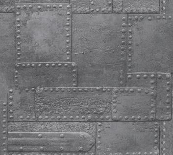 3D Tapete Profhome 364941-GU Vliestapete glatt im Used Look matt silber grau 5, 33 m2