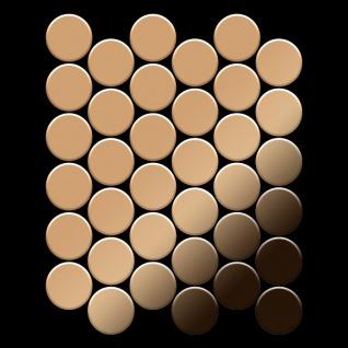 Mosaik Fliese massiv Metall Titan hochglänzend in kupfer 1, 6mm stark ALLOY Medallion-Ti-AM 0, 73 m2 - Vorschau 3
