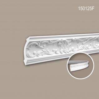 Eckleiste PROFHOME 150125F Zierleiste Flexible Leiste Stuckleiste Rokoko Barock Stil weiß 2 m