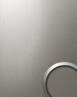 Wandverkleidung Design Platte Paneel WallFace 12431 DECO EyeCatch Metall Dekor selbstklebende Tapete titan gebürstet 2, 60 qm
