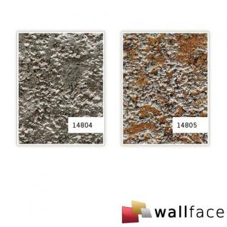 Wandpaneel Stein Optik WallFace 14805 LAVA Design selbstklebend kupfer-braun grau 2, 60 qm - Vorschau 3