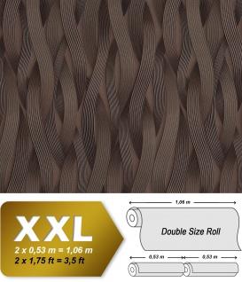 Streifen Tapete EDEM 81130BR26 Vliestapete strukturiert Ton-in-Ton und metallischen Akzenten braun bronze silber 10, 65 m2