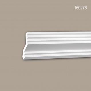 Eckleiste PROFHOME 150276 Zierleiste Stuckleiste Modernes Design weiß 2 m