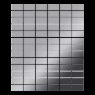 Mosaik Fliese massiv Metall Edelstahl hochglänzend in grau 1, 6mm stark ALLOY Bauhaus-S-S-M 1, 05 m2 - Vorschau 3